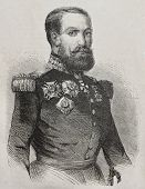Old engraved portrait of General Jusuf, high officer of the Legion of Honour..Created by Marc, publi