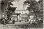 image of algiers  - Old illustration of the fig tree Algiers bazaar - JPG