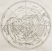 picture of northern hemisphere  - Boreal hemisphere isotherm contour lines - JPG