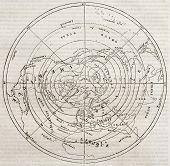 image of northern hemisphere  - Boreal hemisphere isotherm contour lines - JPG