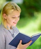 Books Every Girl Should Read. Girl Interested Sit Park Read Book Nature Background. Reading Inspirin poster