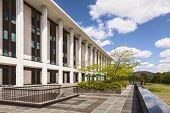 National Library Of Australia, Canberra, Australia. It Is The Largest Reference Library In Australia poster