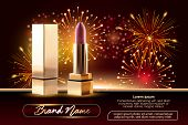 Cosmetics Beauty Series, Ads Of Premium Female Lipstick For Skin Care. Template For Design Poster, P poster