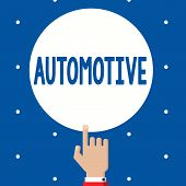 Handwriting Text Automotive. Concept Meaning Selfpropelled Related To Motor Vehicles Engine Cars Aut poster