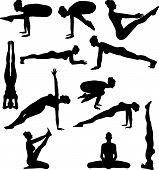 picture of yoga silhouette  - An Illustration of Sexy Yoga Silouettes  - JPG