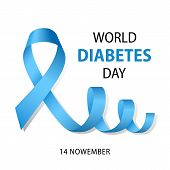 World Diabetes Day Concept Background. Realistic Illustration Of World Diabetes Day Concept Backgrou poster