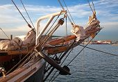 picture of pirate ship  - Vintage 19th - JPG