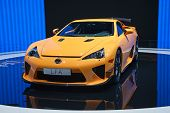 GENEVA - MARCH 8: The Lexus LFA on display at the 81st International Motor Show Palexpo-Geneva on Ma