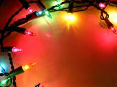 image of christmas lights  - colorful background with christmas lights - JPG