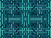 close up shot of a blue labyrinth