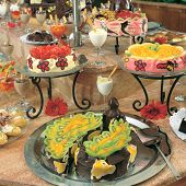 picture of bakeshop  - close up shot of fancy cakes at the buffet - JPG