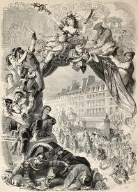 image of lewd  - Old allegoric illustration of Mardi Gras  - JPG
