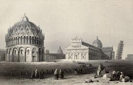 stock photo of luigi  - Antique illustration of Piazza dei Miracoli  - JPG
