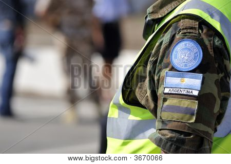 Argentinean United Nations Soldier