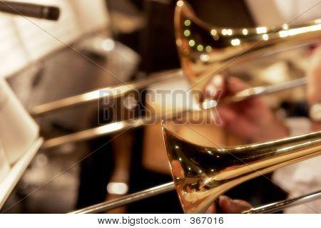 Trombones Playing