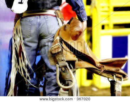 Saddle Bronc Cowboy