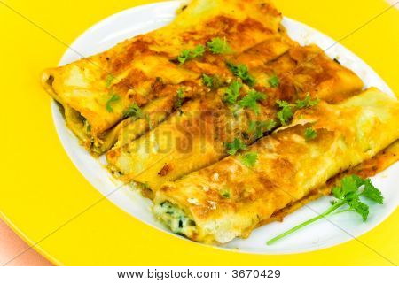 Cannelloni With Stuffing Of Meat And Cheese- Fresh