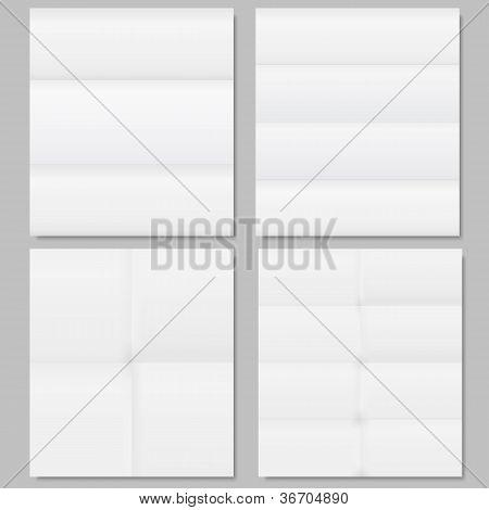 Set of folded paper
