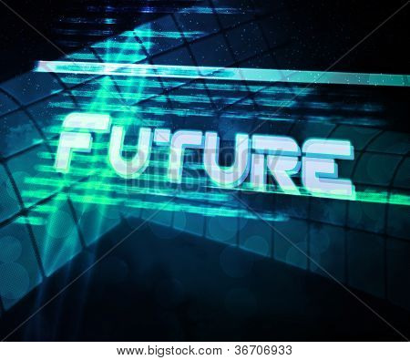 Future Abstract Source Code Background