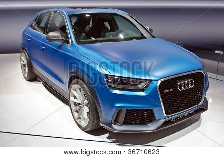 MOSCOW-SEPTEMBER 8: In Moscow International Motor Show. Audi RS Q3 Quattro , on September 8,2012 in Moscow
