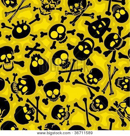 Skull & Crossbones Seamless Pattern