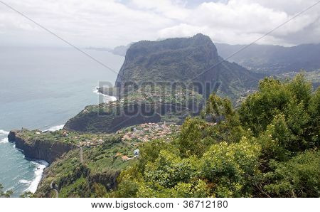 Village of the coast east of Madeira