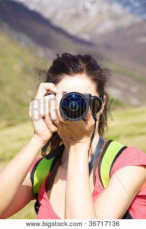 Woman Shooting To You