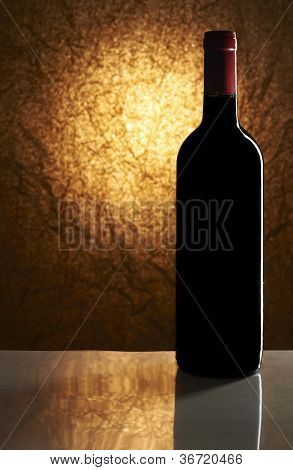 Wine List Design Series: Bottle of red wine with copy space