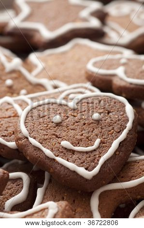 Different Shapes Of Gingerbread Cookies