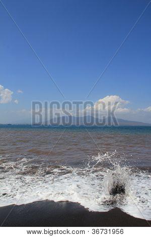 Black Volcanic Beach