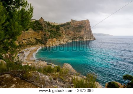 Beautiful Beach In Mountains