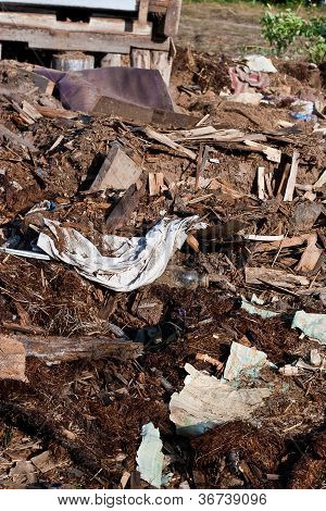 A pile of debris