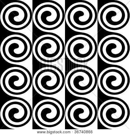 Black & white spiral for advertising and graphics