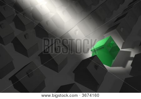Green House In Spotlight
