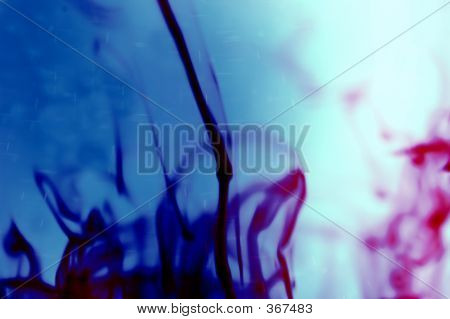 Ink In Water Glass