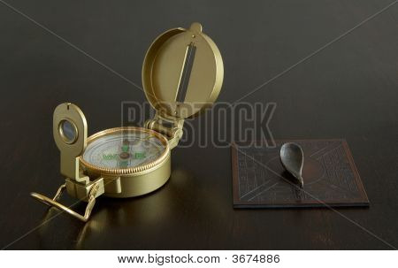 Chinese And Western Compasses