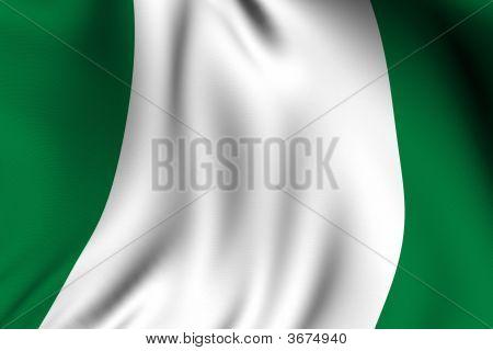 Rendered Nigerian Flag