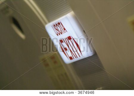 Airplane Exit Sign