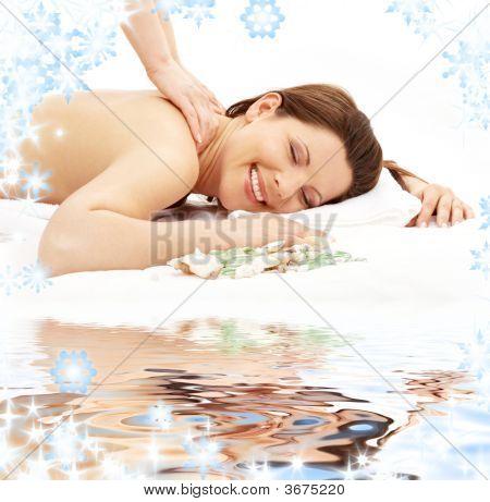 Happy Massage On White Sand