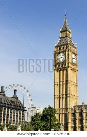 Big Ben, London, England, In The Afternoon