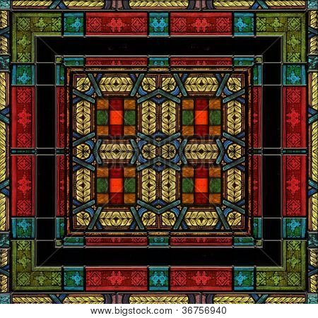 Medieval Style Stained Glass Or Tile