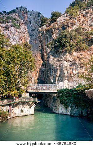 Saklikent Canyon und Xanthos Fluss