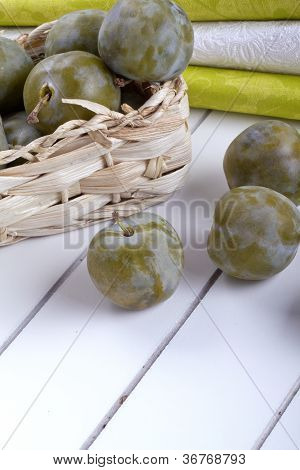 greengage green plum