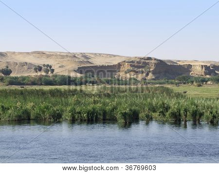 Nile Between Edfu And Kom Ombo