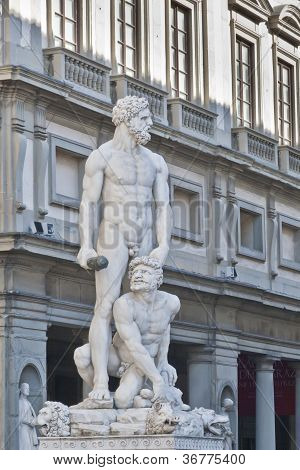 Baccio Bandinelli Statue Of Hercules And Cacus In Florence