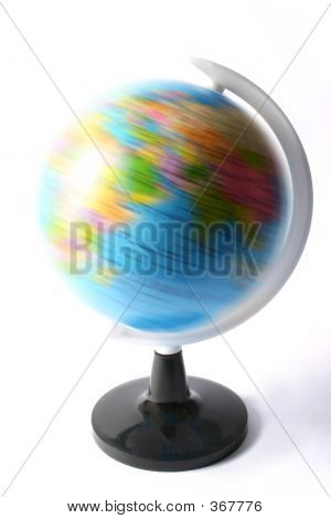 Globe Spinning World Earth