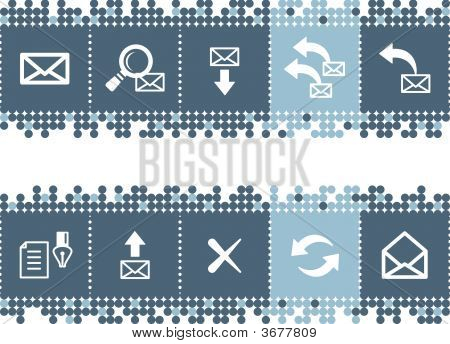 Blue Dots Bar With E-Mail Icons