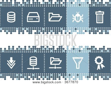 Blue Dots Bar With Server Icons