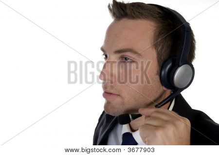 Businessman Busy On Phone Call