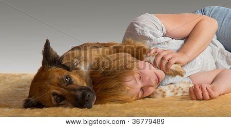 Peaceful Slumber With Gentle Dog